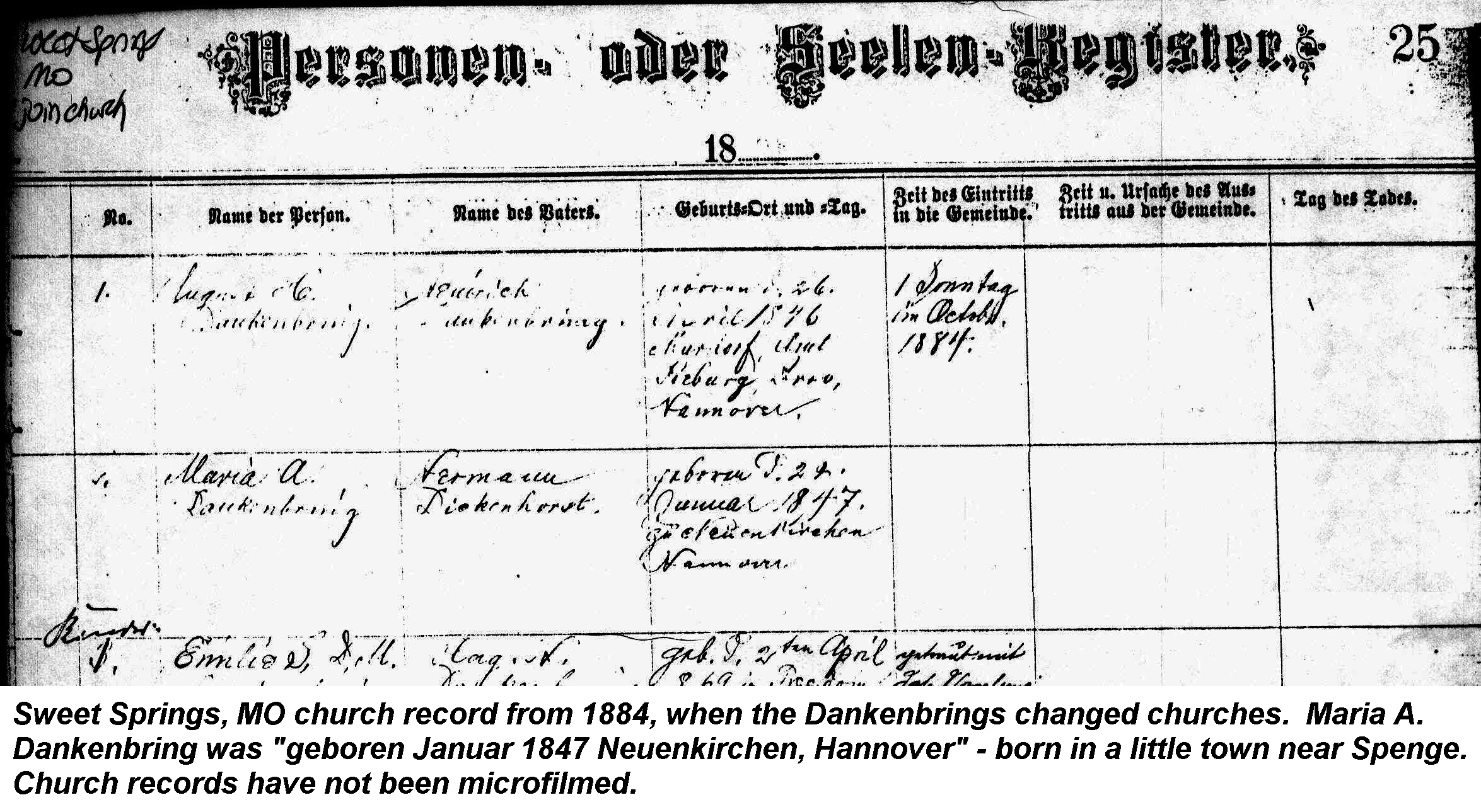 Maria dickenhorst and august dankenbring genealogy born 1betcityfo Image collections